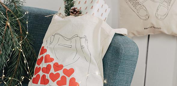 Prejmite eno od naših poslikanih platnenih vreč!